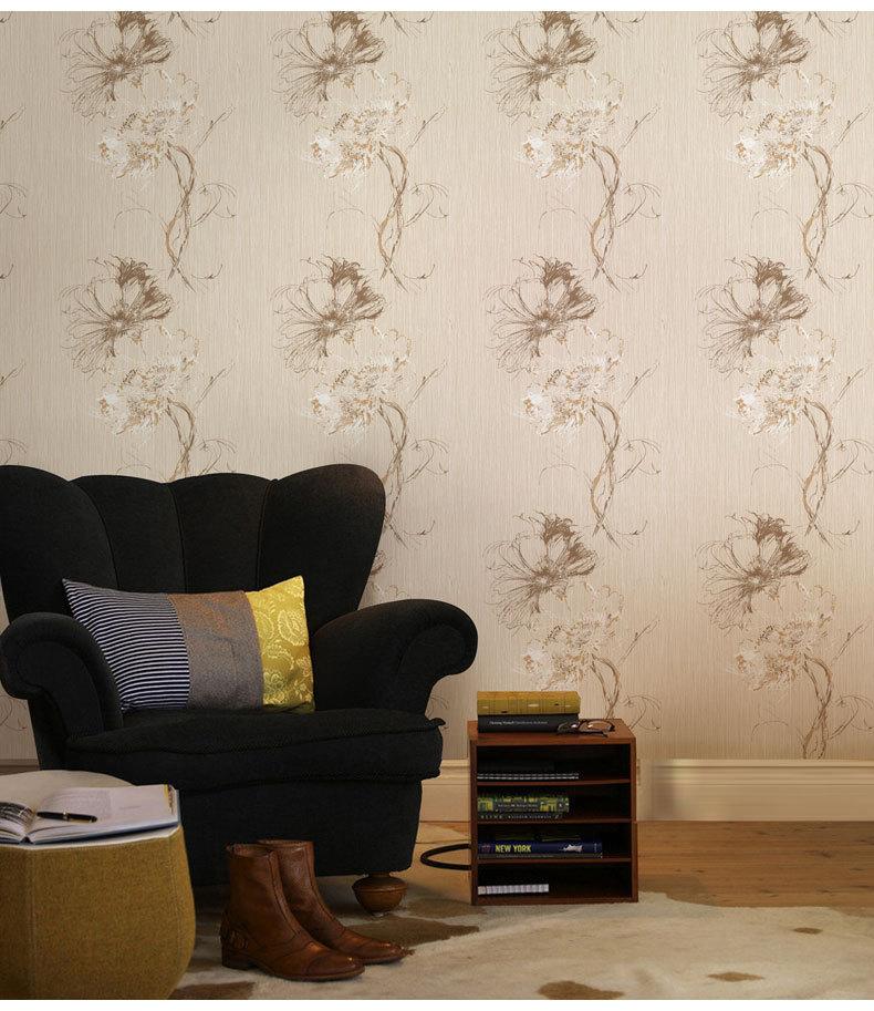 米素壁纸 美式复古 约克风卧室客厅书房墙纸 电视背景图片