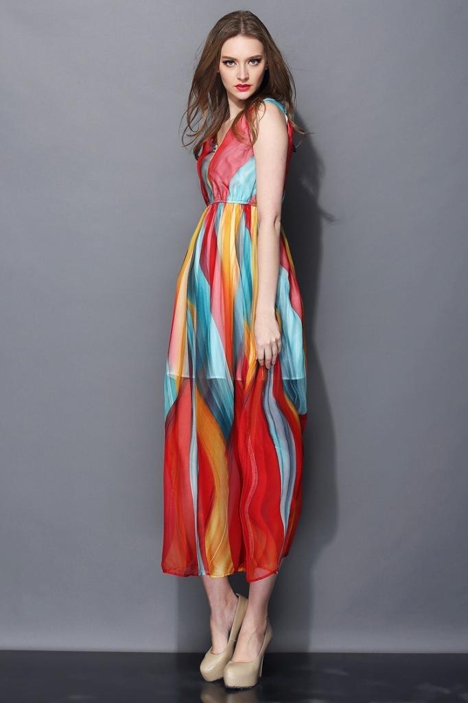 v型裙款式图手绘