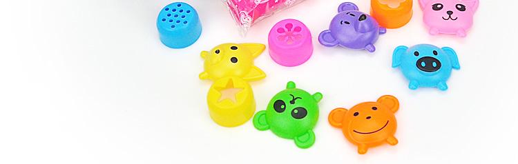 智高3d彩泥12色橡皮泥粘土模具 儿童手工制作益智玩具套装 动物款