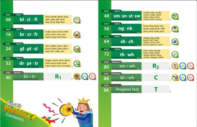 原版进口少儿英语自然拼读法教材new smart phonics 4