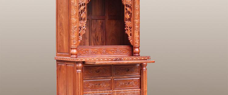 储物家具 层架/置物架 木中央 木中央 红木佛龛 中式实木神龛 花梨木