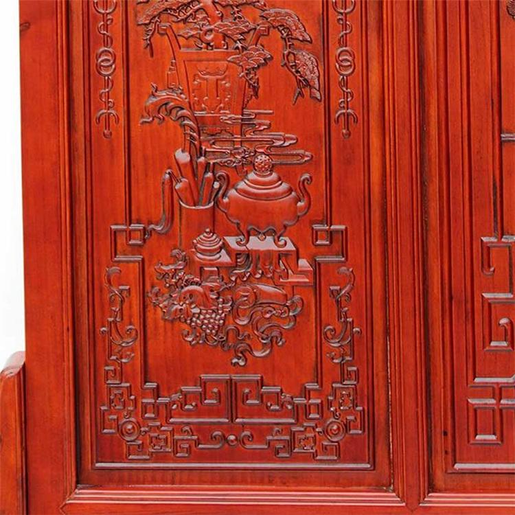 罗诗玛诺 东阳木雕 座屏落地大屏风隔断 中式客厅玄关