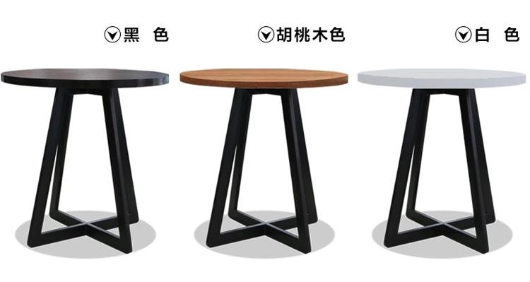 思美小圆桌茶几 酒店圆桌 洽谈桌 咖啡桌 简约时尚宜家黑色圆桌子图片