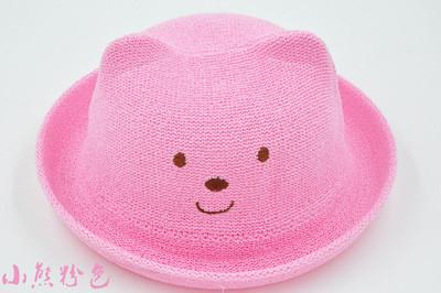 儿童帽子宝宝帽子多款可挑儿童动物造型立体草帽 中小童太阳帽 熊猫