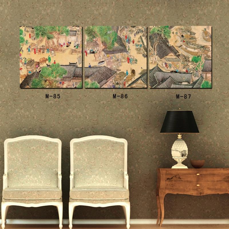 馨雅格 中式复古木板画酒吧装饰画服装店咖啡馆无框怀旧画创意墙面做图片