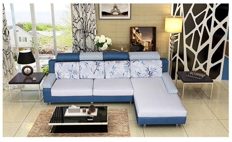 吉斯沙发 现代简约大小户型客厅布艺沙发 可拆洗定制三人组合家具 米