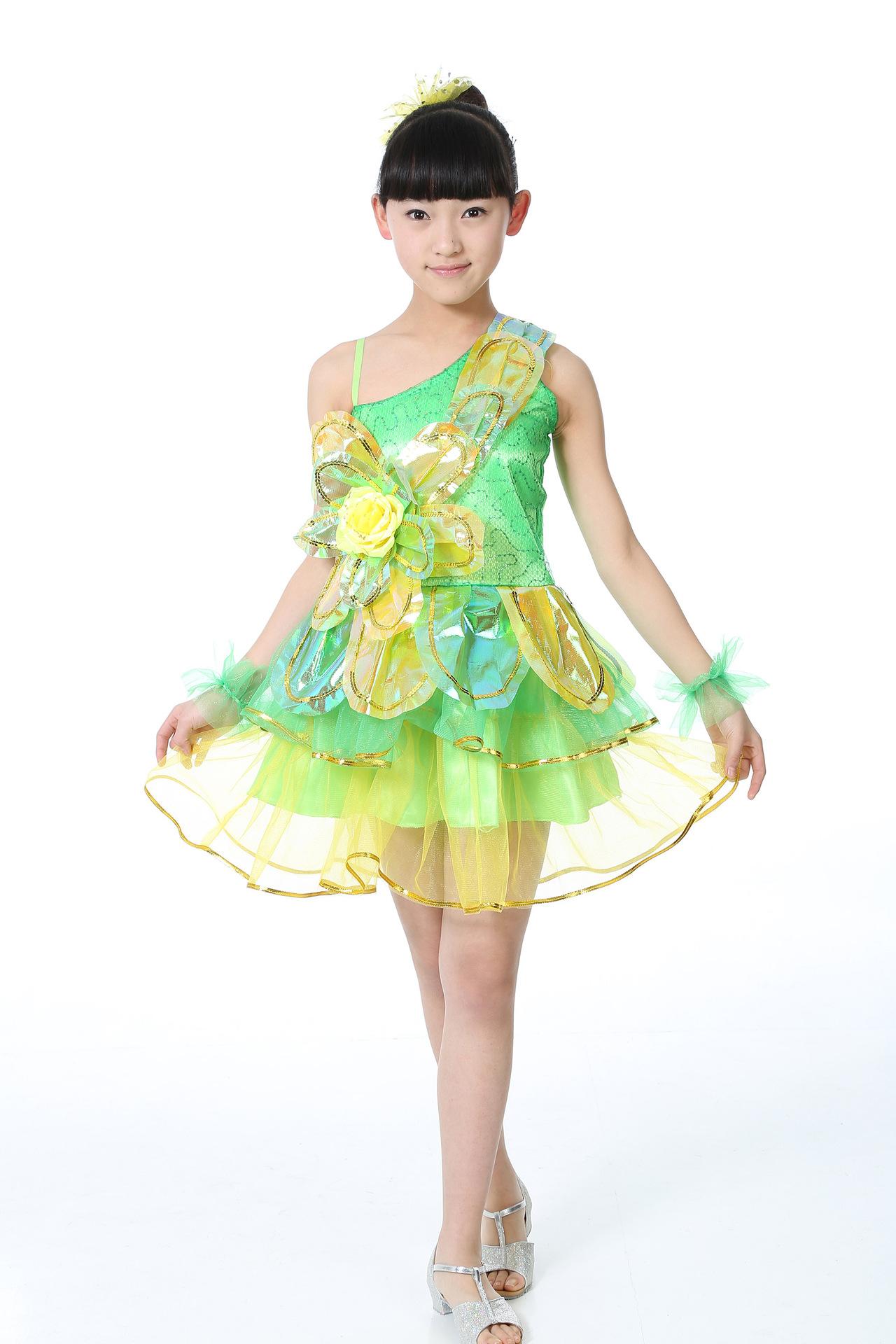 六一儿童演出服幼儿亮片纱裙主持人蓬蓬裙公主裙少儿图片