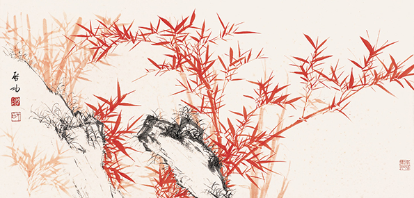松树国画小品作品欣赏
