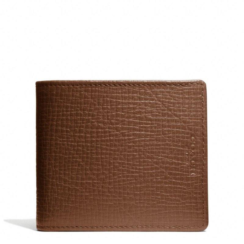 coach gray wallet  billfold wallet