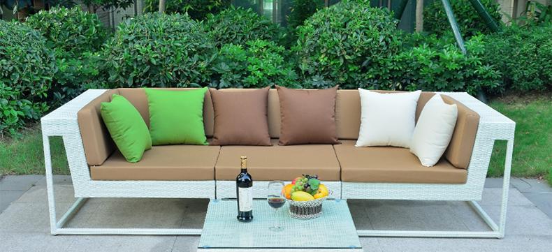 双帝 藤编沙发 庭院客厅藤沙发花园阳台沙发户外仿藤沙发组合户外沙发
