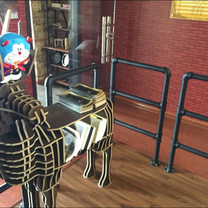 铁艺做旧水管楼梯扶手酒吧防护栏阁楼走廊栏杆阳台围栏室内外护栏