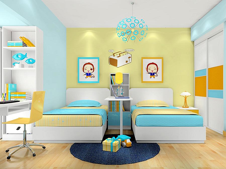 尚品宅配 儿童房 家具定制 衣柜 床头柜 书桌 书柜 全