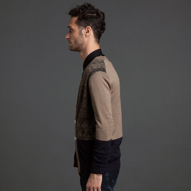 男士秋冬季新品内搭针织衫 男潮v领薄款针织开衫