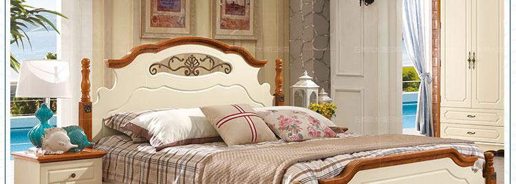 石为先石美居 地中海床 实木床 儿童床 美式乡村单人床 高箱床 田园床图片