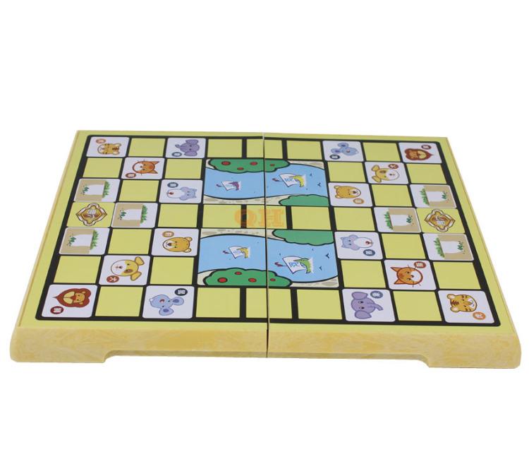 ub磁性斗兽棋2708kl 磁性动物棋 折叠盘 卡通图案 黑色 斗兽棋