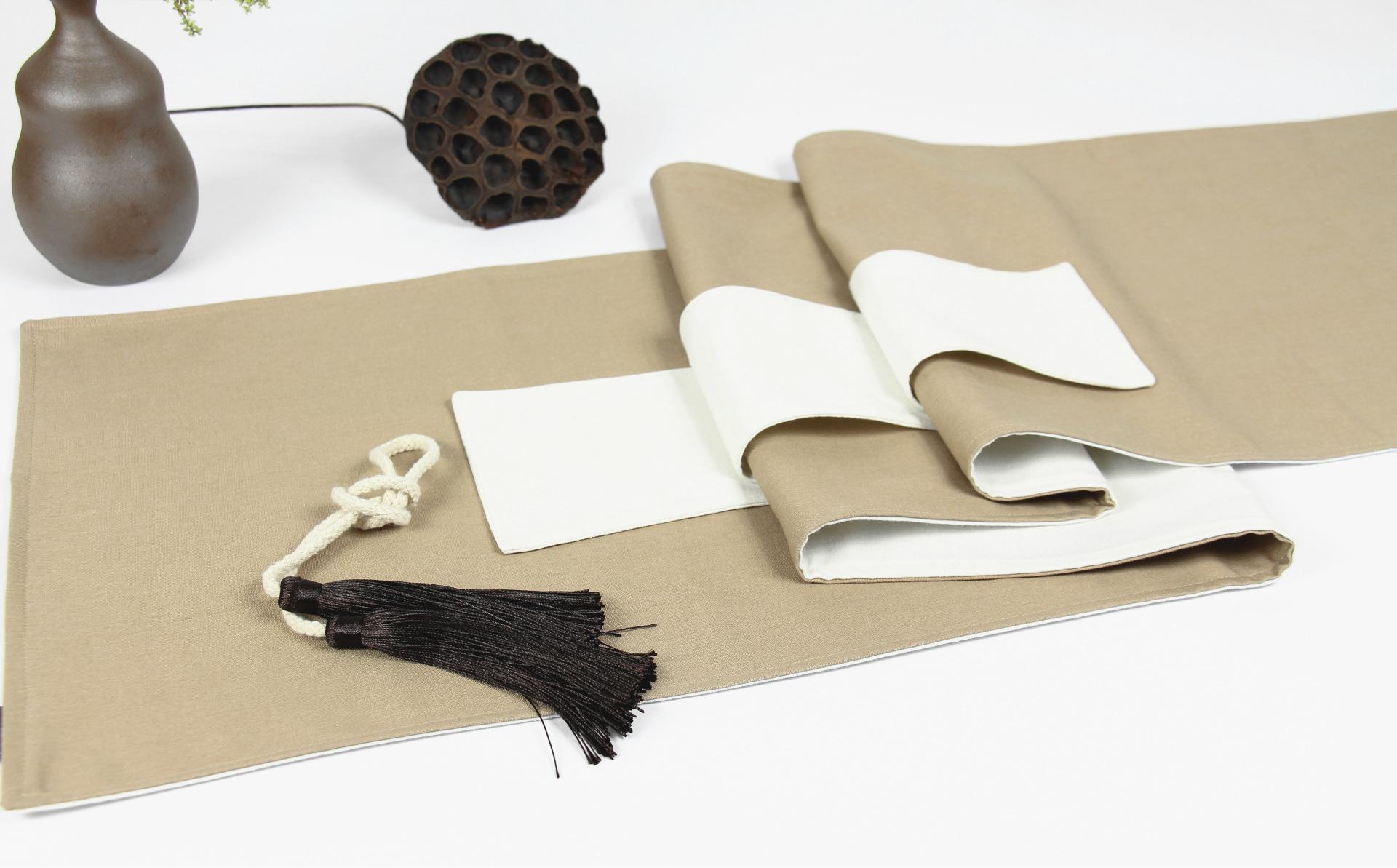 禅意手绘茶毯
