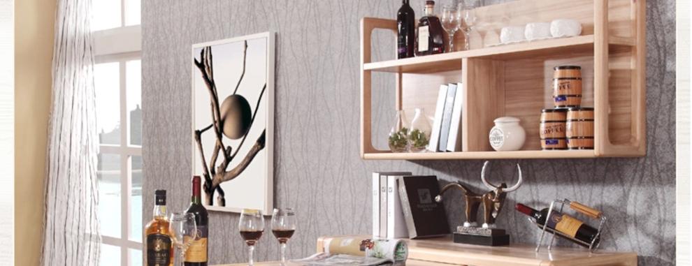 实木吧台酒柜设计图展示