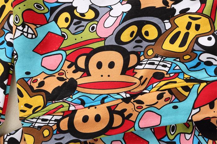 童涂鸦囹�a��d�cl_童装 秋冬新款 纯棉猴子涂鸦印花套装 女童运动童套装