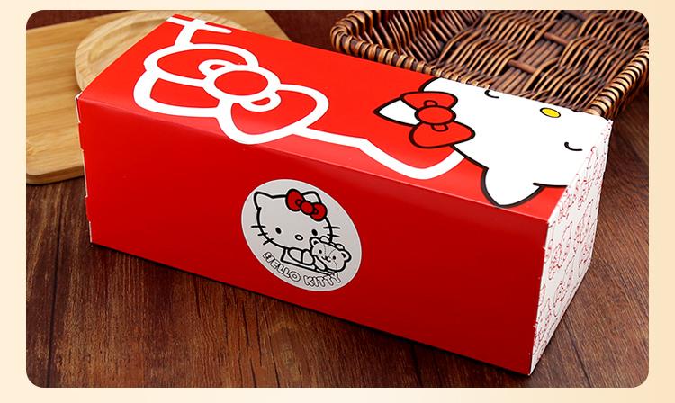 蓝色长条叮当猫kitty纸杯蛋糕盒送