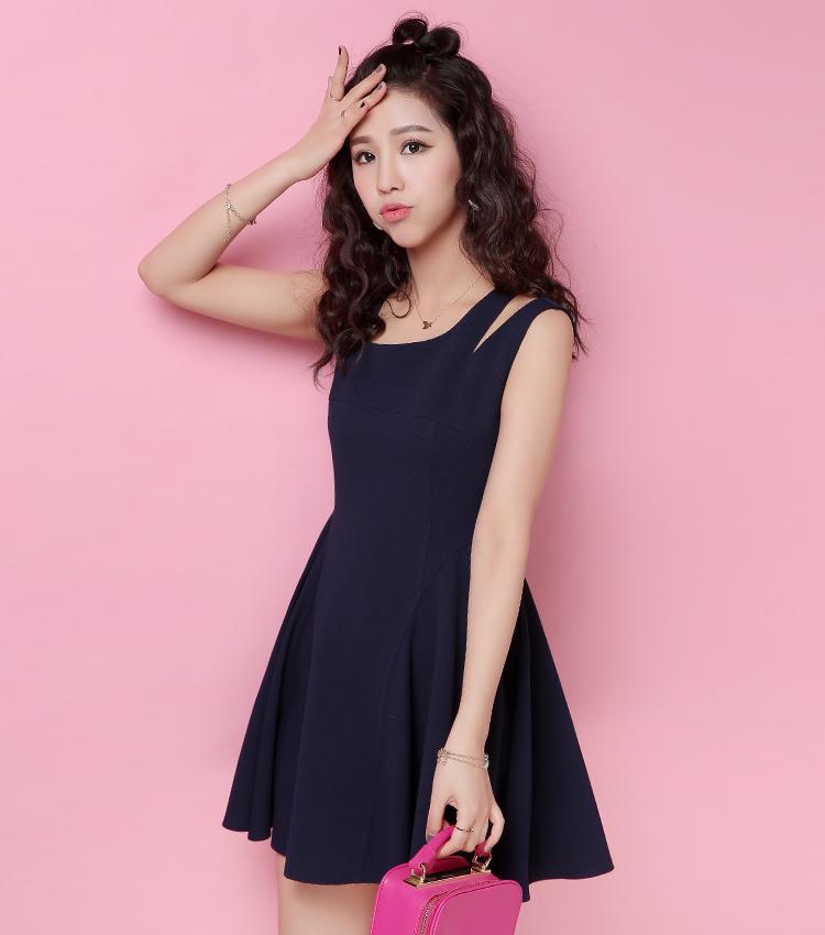 连衣裙短袖夏修身版