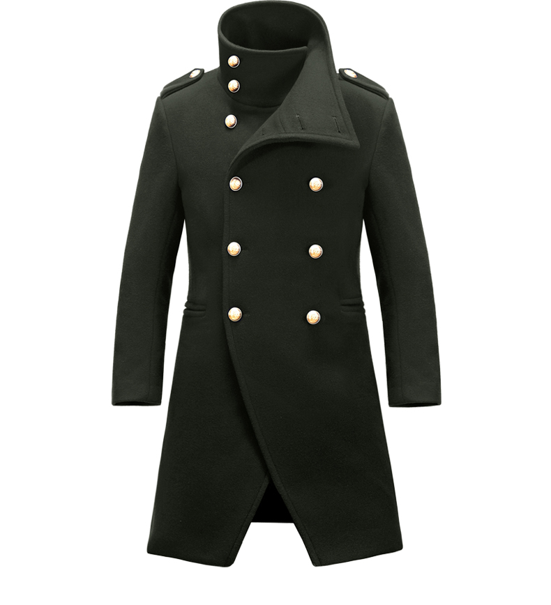 羊毛呢子军大衣