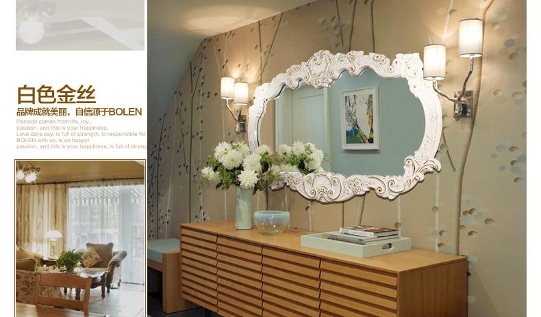 伯仑 豪华欧式镜 浴室镜子卫生间镜高档别墅娱乐场所装饰镜ctf8118