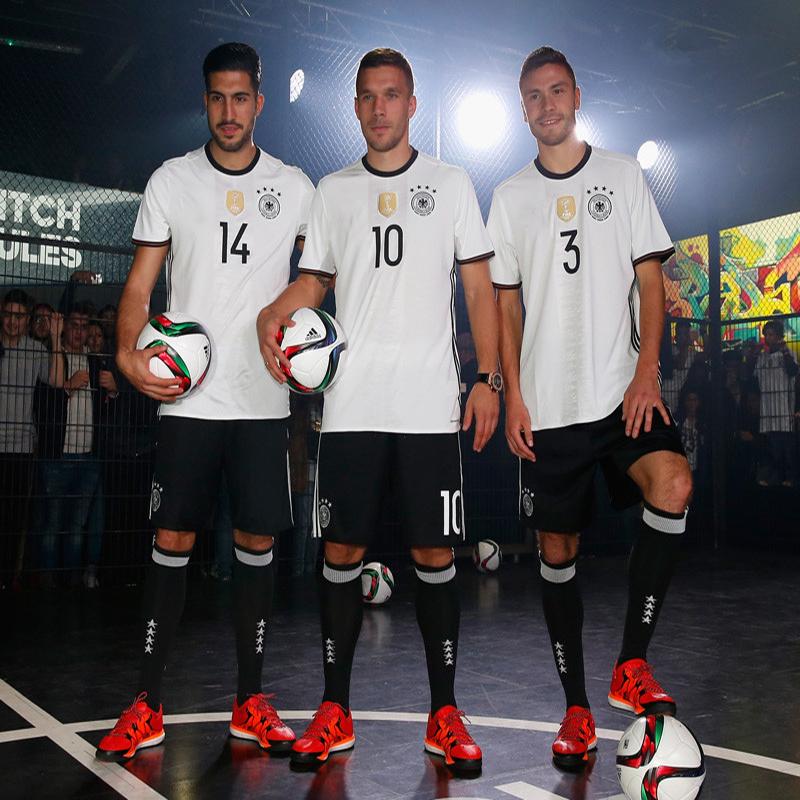 2016年欧洲杯国家队德国队主场短袖球衣足球服队服11号克洛泽训练服 1图片
