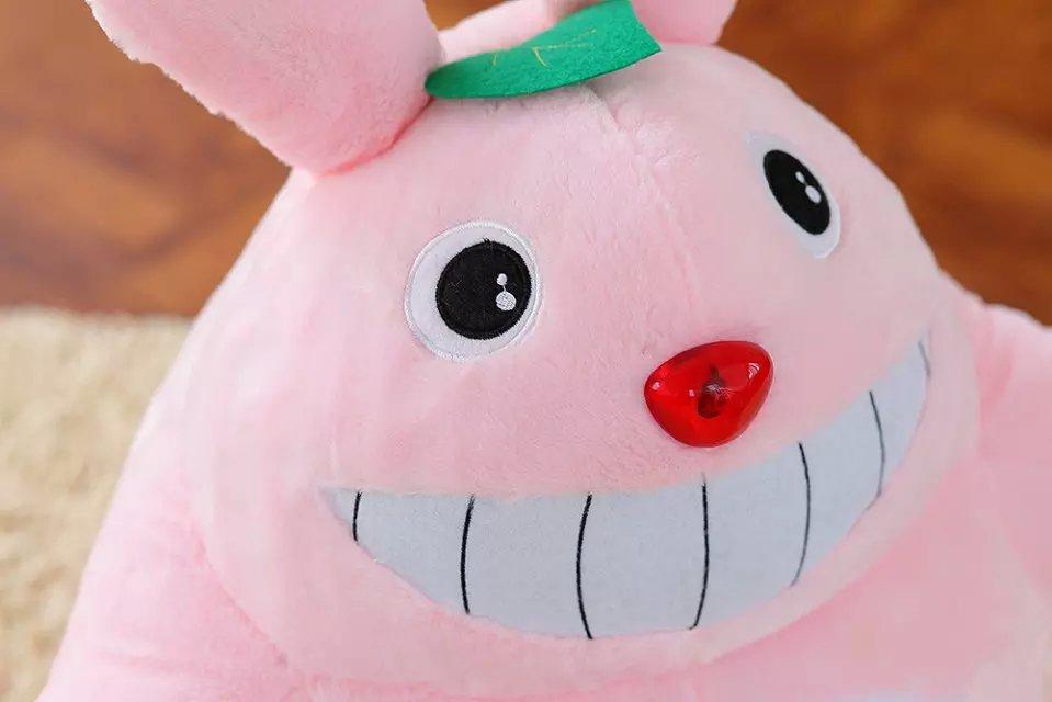 正版电动玩具龙猫露牙齿大笑龙猫娃娃diy个性送女生日礼物 绿色 60*30