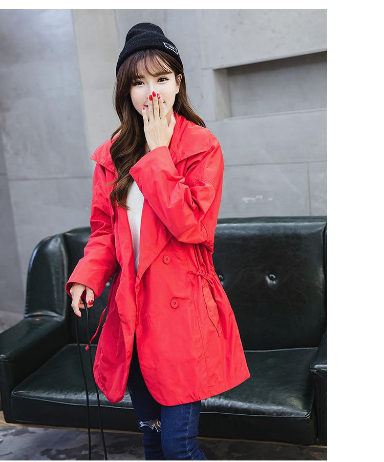 范力思2018新款风衣外套 女中长款韩版2015新款秋装斗篷潮长袖大码图片
