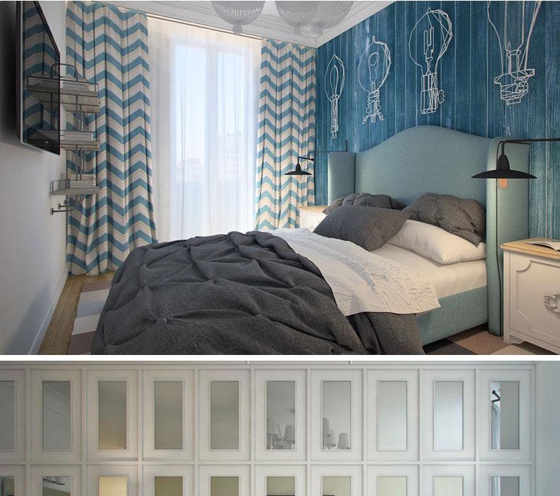 8米双人床 简约欧式个性样板间床 美式乡村家具现代 高箱款布床-拍下图片