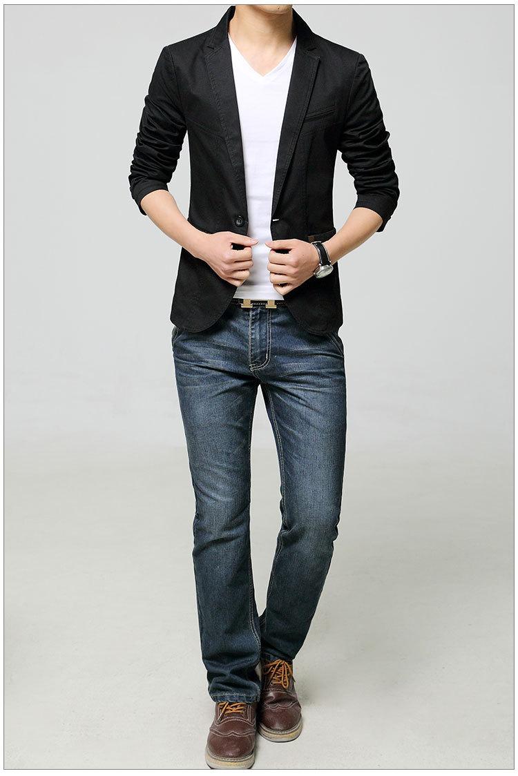 男士韩版休闲西装搭配什么衣服,裤子,鞋子,图片