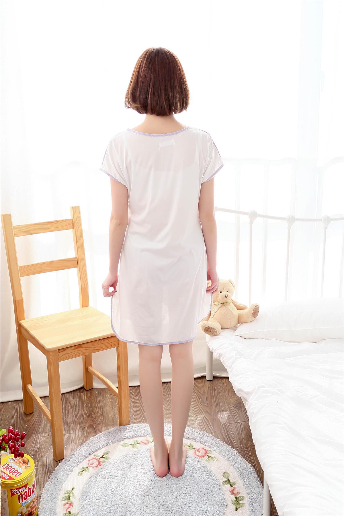 夏季新款少女人睡裙短袖睡衣可爱甜美休闲性感卡通动漫家居服短裙