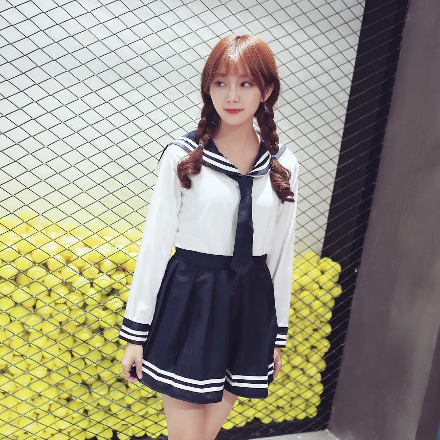 贵爽2016新款日韩校服套装学生制服领带可爱女学生服水手服 图片色 l
