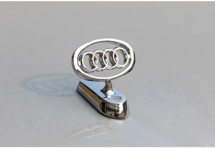 自定义 奥迪车标立标飞鹰标 汽车车标车贴立标 奥迪改装专用车标 奥迪图片