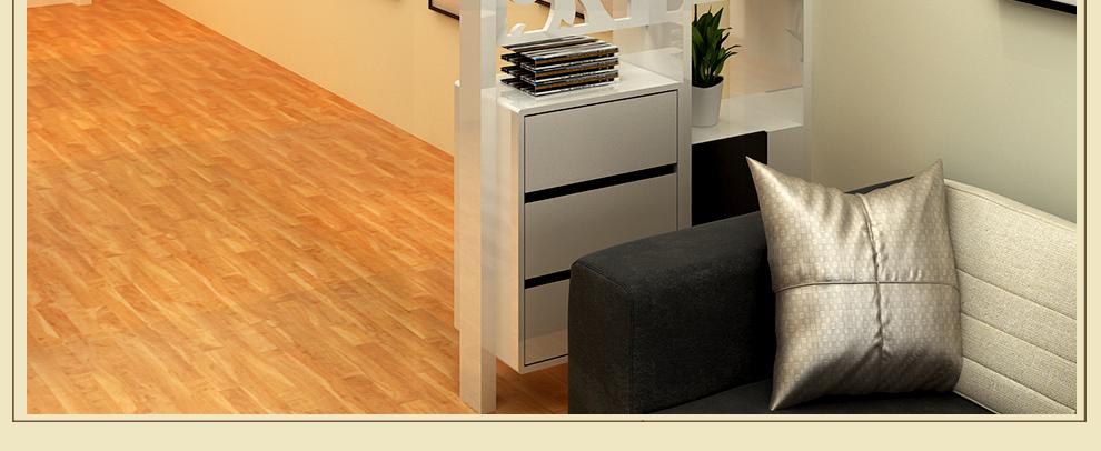 威名木业 现代简约书架客厅隔断置物架花架时尚玄关屏风 e02 1.2米宽