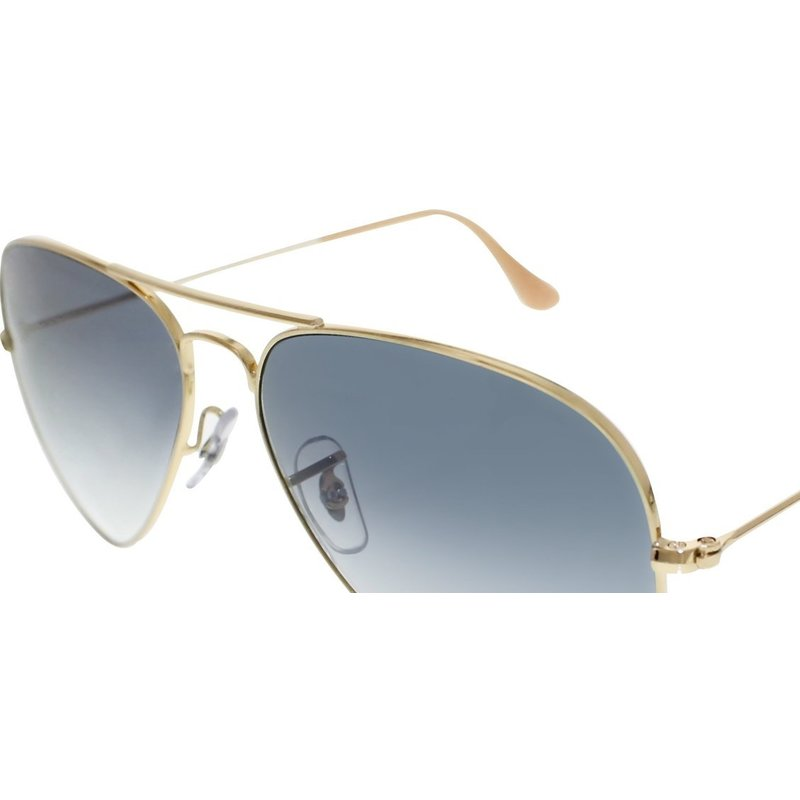 best aviator style sunglasses  aviator rb3025-001/3f-58