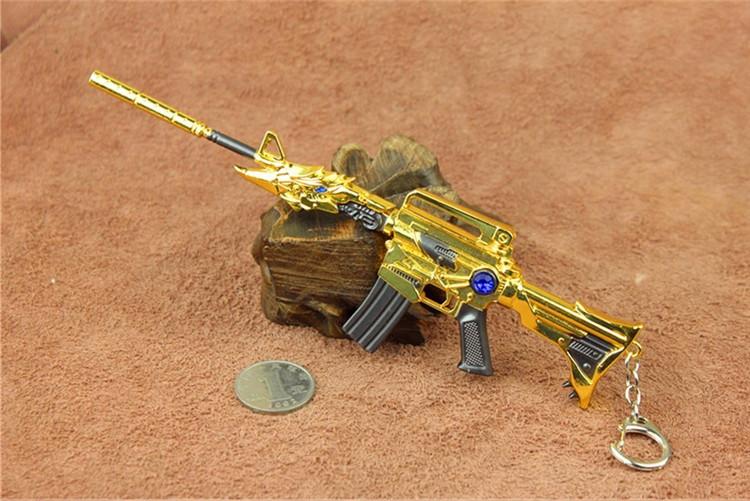 cf穿越火线英雄武器加特林枪模雷神合金模型无影钥匙扣黑龙玩具枪 15c图片
