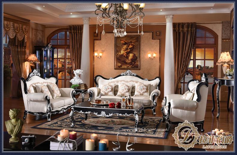 拉菲伯爵 欧式新古典风格沙发 美式布艺沙发大户型客厅组合ts001 1+2图片