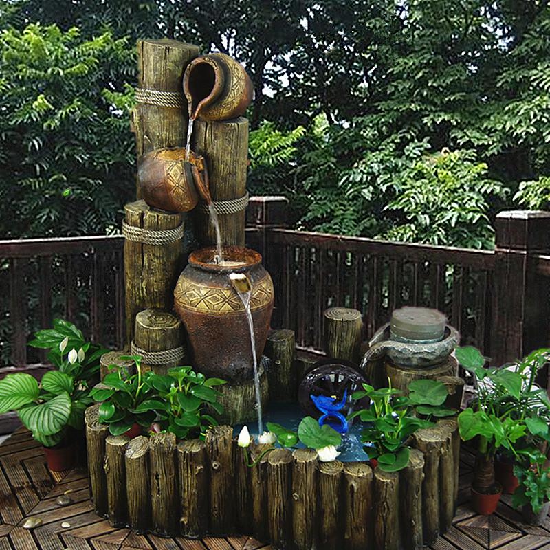 大件欧式假山流水喷泉水景树脂工艺品招财风水鱼池品图片