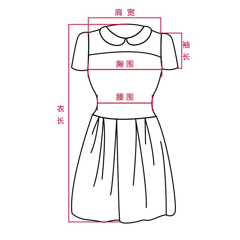 连衣裙手绘款式图正反面