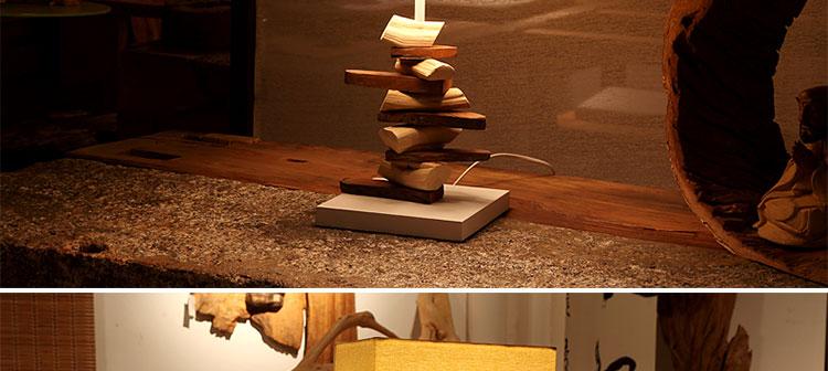 比月简约实木质台灯卧室床头灯创意时尚宜家现代温馨装饰台灯3620