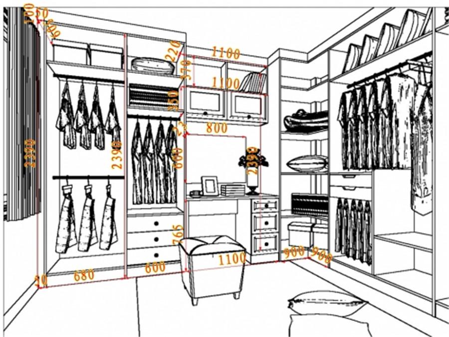 衣柜手绘素描图