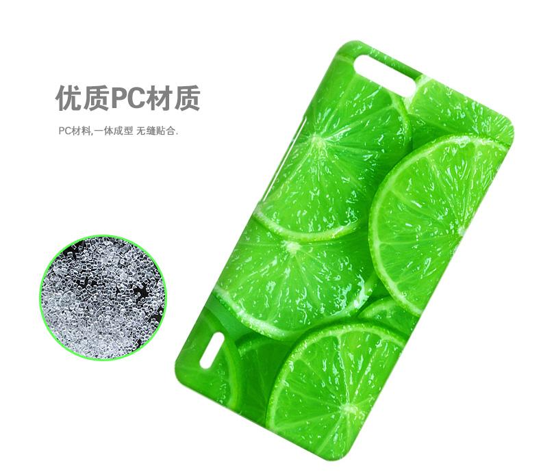 水果系列手机套彩绘手机壳保护硬壳 适用于大可乐3/3x 橙柠檬片