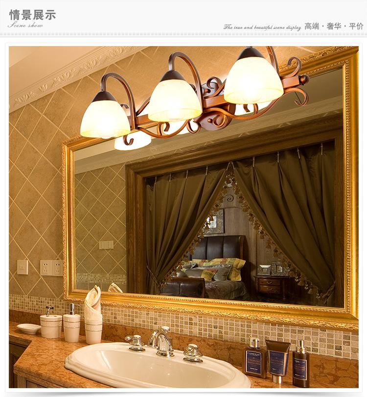 欧式镜前灯卫生间 浴室led经典复古美式镜柜灯具防水图片
