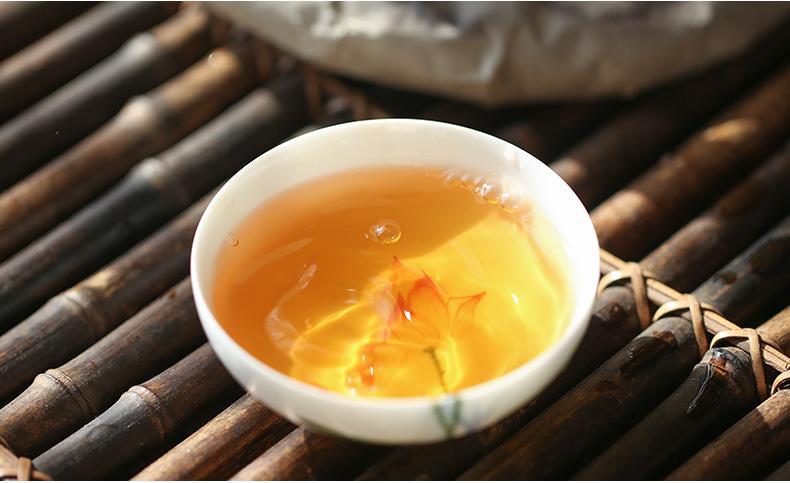 彩程茶叶 冰岛 古树普洱茶 2012年 生茶 七子饼茶380克