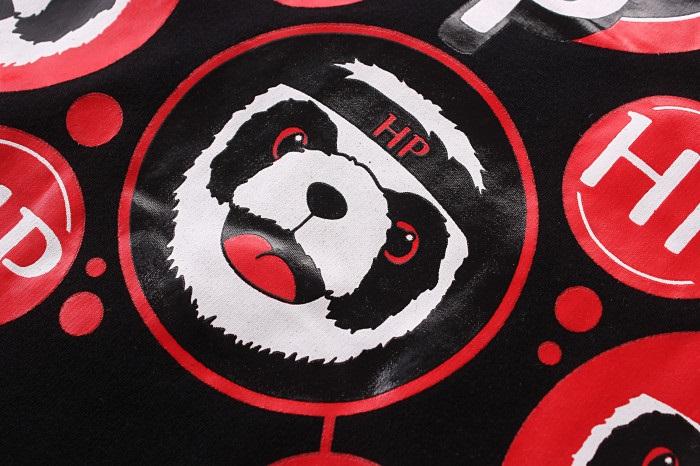 新款卡通功夫熊猫黑白