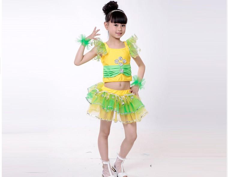 六一儿童节舞台民族表演演出服装舞蹈裙女童幼儿园舞图片