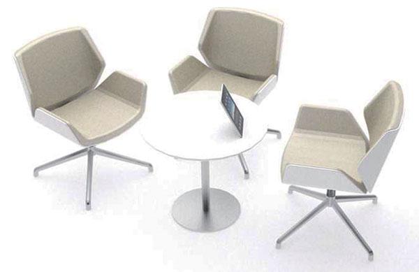 洽谈桌商务接待桌椅组合咖啡桌板式圆桌子小圆桌茶几奶茶店桌椅子图片