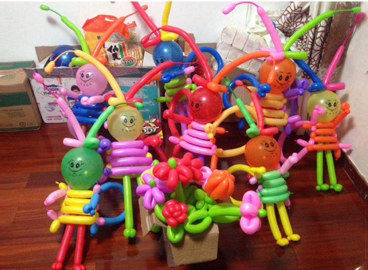 树宝之道小太子长条魔术气球编制造型气球生日派对布置用品送教程 多