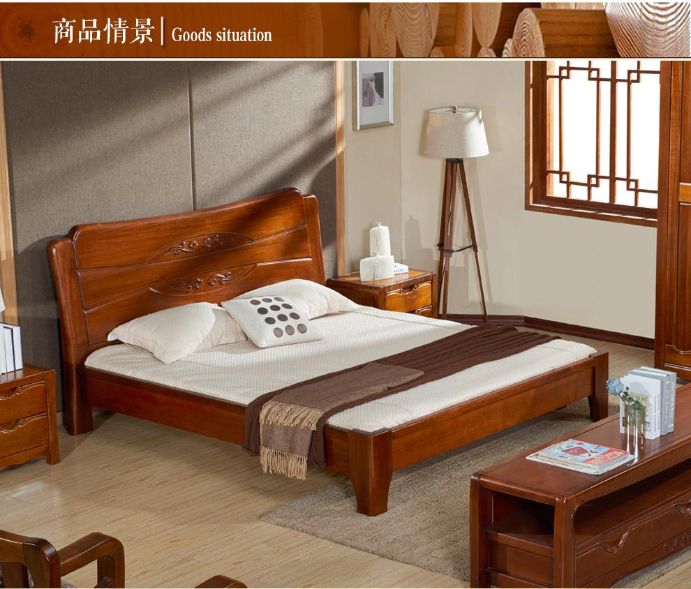 5m双人床高箱大床原木家具 lm-n3 高箱储物床(不含床头柜) 1800*2000